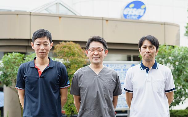左から三宅さん(PT)、山本さん(ST)、福井さん(OT)