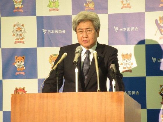 今後の都道府県の新興・再興感染症への対応について重要性を強調する日医・中川副会長(27日)