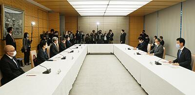 日医はじめ6団体のトップが出席(写真提供:日本医師会)